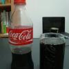 コーラに並々いれました。やはり、グラスの冷たさが美味しさを引き立たせてくれます。