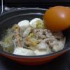 寄せ鍋のような鍋。寄せ鍋の素を使っているのでたぶんこれは寄せ鍋だろう。