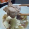 鍋。ポン酢で食べた。うまかった