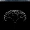 DXRubyで表示した樹木曲線。