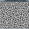 迷路。白いところが壁。